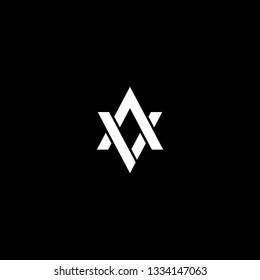 Outstanding professional elegant trendy awesome artistic black and white color AV VA initial based Alphabet icon logo.
