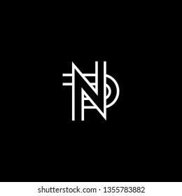 Outstanding professional elegant trendy awesome artistic black and white color NP PN initial based Alphabet icon logo.