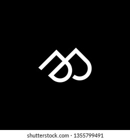Outstanding professional elegant trendy awesome artistic black and white color PP DD DP PD initial based Alphabet icon logo.