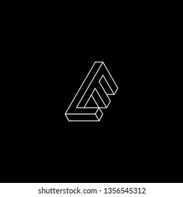 Outstanding professional elegant trendy awesome artistic black and white color LE EL LF FL EF FE initial based Alphabet icon logo.