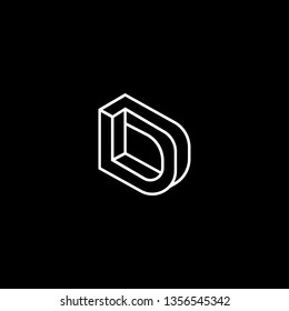 Outstanding professional elegant trendy awesome artistic black and white color D DD LD DL initial based Alphabet icon logo.