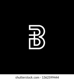 Outstanding professional elegant trendy awesome artistic black and white color B BB initial based Alphabet icon logo.