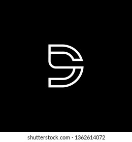 Outstanding professional elegant trendy awesome artistic black and white color D DD DS SD initial based Alphabet icon logo.