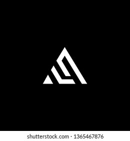 Outstanding professional elegant trendy awesome artistic black and white color AQ QA LQ QL initial based Alphabet icon logo.