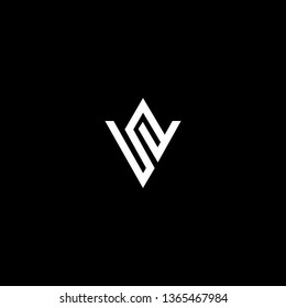 Outstanding professional elegant trendy awesome artistic black and white color VS SV WS SW initial based Alphabet icon logo.