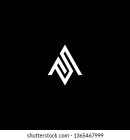 Outstanding professional elegant trendy awesome artistic black and white color AS SA MS SM initial based Alphabet icon logo.