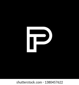 Outstanding professional elegant trendy awesome artistic black and white color PT TP initial based Alphabet icon logo.