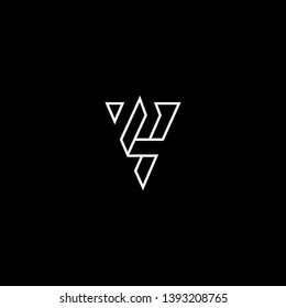 Outstanding professional elegant trendy awesome artistic black and white color VS SVinitial based Alphabet icon logo.