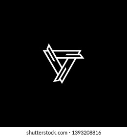 Outstanding professional elegant trendy awesome artistic black and white color V VV initial based Alphabet icon logo.