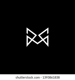 Outstanding professional elegant trendy awesome artistic black and white color M GG MG GM initial based Alphabet icon logo.