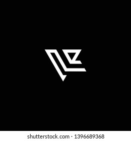 Outstanding professional elegant trendy awesome artistic black and white color VL LV initial based Alphabet icon logo.