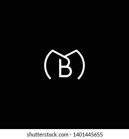 Outstanding professional elegant trendy awesome artistic black and white color MB BM initial based Alphabet icon logo.