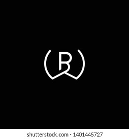 Outstanding professional elegant trendy awesome artistic black and white color WB BW initial based Alphabet icon logo.