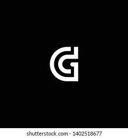 Outstanding professional elegant trendy awesome artistic black and white color GD DG initial based Alphabet icon logo.