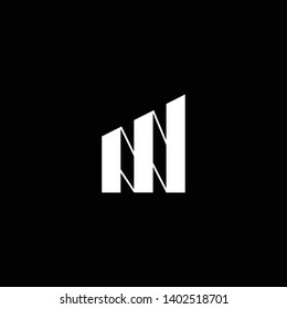 Outstanding professional elegant trendy awesome artistic black and white color MN NM initial based Alphabet icon logo.