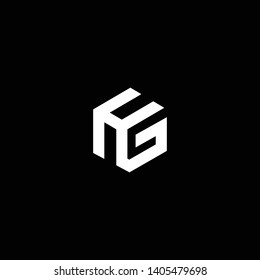 Outstanding professional elegant trendy awesome artistic black and white color HG GH initial based Alphabet icon logo.