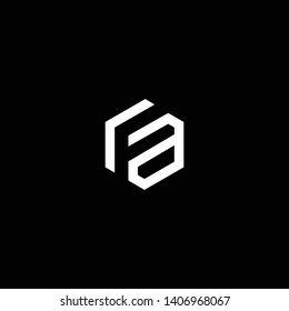 Outstanding professional elegant trendy awesome artistic black and white color FA AF initial based Alphabet icon logo.
