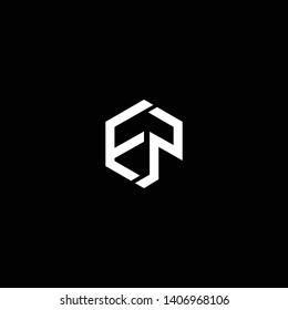 Outstanding professional elegant trendy awesome artistic black and white color FP PF initial based Alphabet icon logo.