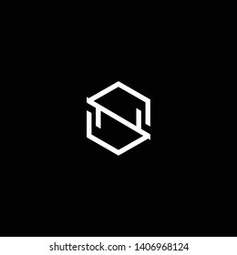 Outstanding professional elegant trendy awesome artistic black and white color SN NS initial based Alphabet icon logo.