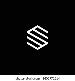 Outstanding professional elegant trendy awesome artistic black and white color EM ME SM MS SW WS initial based Alphabet icon logo.