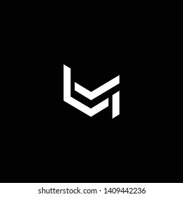 Outstanding professional elegant trendy awesome artistic black and white color LM ML initial based Alphabet icon logo.