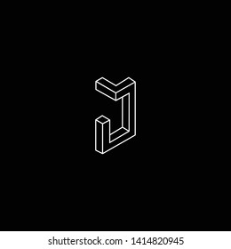 Outstanding professional elegant trendy awesome artistic black and white color J JJ MJ JM initial based Alphabet icon logo.
