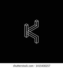 Outstanding professional elegant trendy awesome artistic black and white color MK KK YK KY initial based Alphabet icon logo.