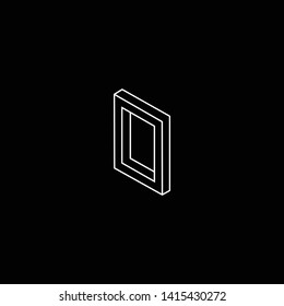 Outstanding professional elegant trendy awesome artistic black and white color O OO OD DO initial based Alphabet icon logo.