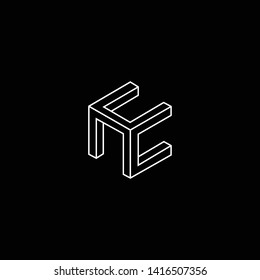 Outstanding professional elegant trendy awesome artistic black and white color HC CH initial based Alphabet icon logo.