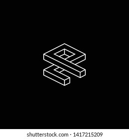 Outstanding professional elegant trendy awesome artistic black and white color ZP PZ initial based Alphabet icon logo.
