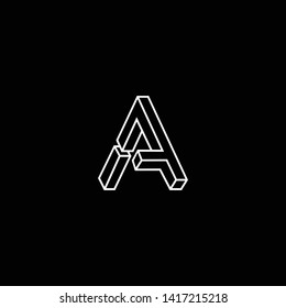 Outstanding professional elegant trendy awesome artistic black and white color A AA AF FA initial based Alphabet icon logo.