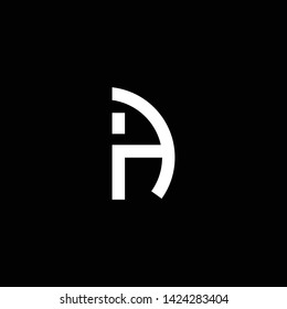 Outstanding professional elegant trendy awesome artistic black and white color AI IA initial based Alphabet icon logo.