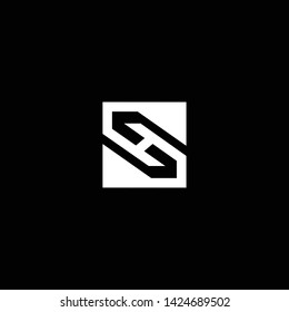 Outstanding professional elegant trendy awesome artistic black and white color SH HS initial based Alphabet icon logo.