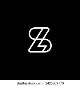 Outstanding professional elegant trendy awesome artistic black and white color SL LS SB BS initial based Alphabet icon logo.
