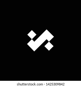 Outstanding professional elegant trendy awesome artistic black and white color N S NS SN initial based Alphabet icon logo.