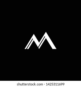 Outstanding professional elegant trendy awesome artistic black and white color M MN NM initial based Alphabet icon logo.