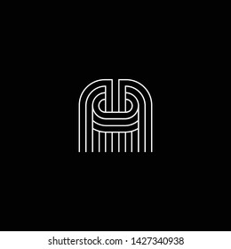 Outstanding professional elegant trendy awesome artistic black and white color MO OM MC CM initial based Alphabet icon logo.