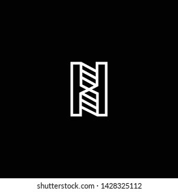 Outstanding professional elegant trendy awesome artistic black and white color H HH HS SH initial based Alphabet icon logo.