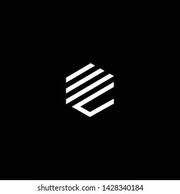 Outstanding professional elegant trendy awesome artistic black and white color MC CM WC CW initial based Alphabet icon logo.