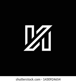 Outstanding professional elegant trendy awesome artistic black and white color N NN NZ ZN initial based Alphabet icon logo.