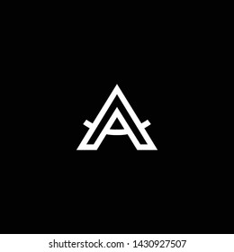 Outstanding professional elegant trendy awesome artistic black and white color A AA AM MA initial based Alphabet icon logo.