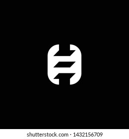 Outstanding professional elegant trendy awesome artistic black and white color H HE EH initial based Alphabet icon logo.