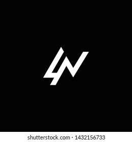 Outstanding professional elegant trendy awesome artistic black and white color LN NL initial based Alphabet icon logo.