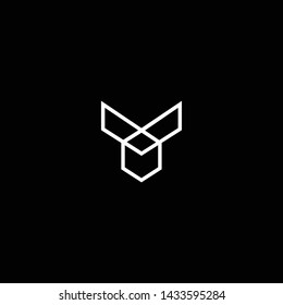 Outstanding professional elegant trendy awesome artistic black and white color Y YY YM MY initial based Alphabet icon logo.