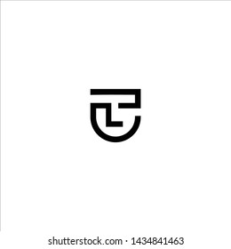 Outstanding professional elegant trendy awesome artistic black and white color TU UT initial based Alphabet icon logo