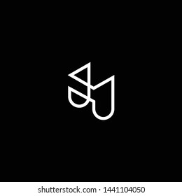 Outstanding professional elegant trendy awesome artistic black and white color H HH HJ JH initial based Alphabet icon logo.