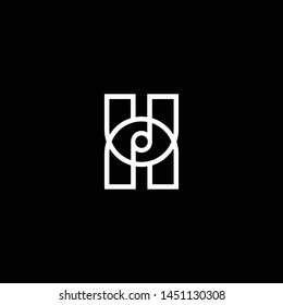 Outstanding professional elegant trendy awesome artistic black and white color H HH HU UH HN NH UN NU initial based Alphabet icon logo.