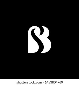 Outstanding professional elegant trendy awesome artistic black and white color SB BS initial based Alphabet icon logo. - Vector