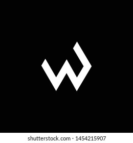Outstanding professional elegant trendy awesome artistic black and white color W WP PW initial based Alphabet icon logo.