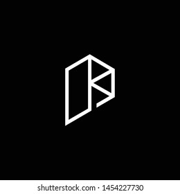 Outstanding professional elegant trendy awesome artistic black and white color P PP PK KP initial based Alphabet icon logo.